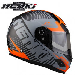 Шлем (Интеграл) NENKI FF-856 MATTE GREY ORANGE